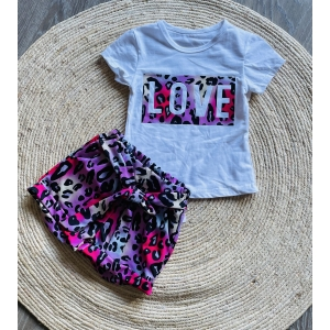 Panter set short met T-shirt love