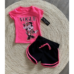 Minnie set roze 2 delig